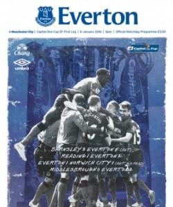 Everton Programmes - Everton v Manchester C..