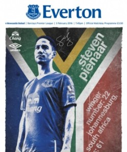 Everton Programmes - Everton v Newcastle Un..