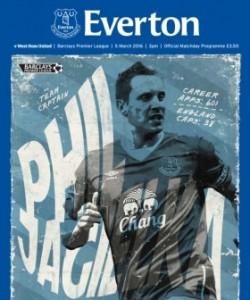 Everton Programmes - Everton v West Ham Uni..