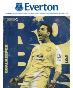 Everton Programmes - Everton v Arsenal