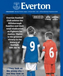 Everton Programmes - Everton v Bournemouth