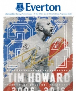 Everton Programmes - Everton v Norwich City