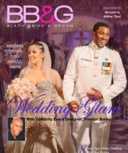 Black Bride and Groom Wedding Magazine